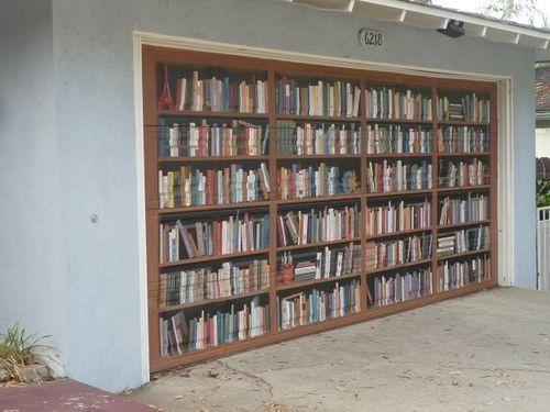 Garage Door   Painted With Faux Bookcase? If Iu0027m Not Careful, My Books Will  Take That Much Room.