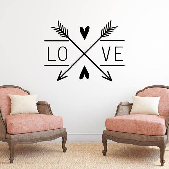 Stickers Op De Muur.Love Arrows Wall Decal Love Decal Love Stickers Wall