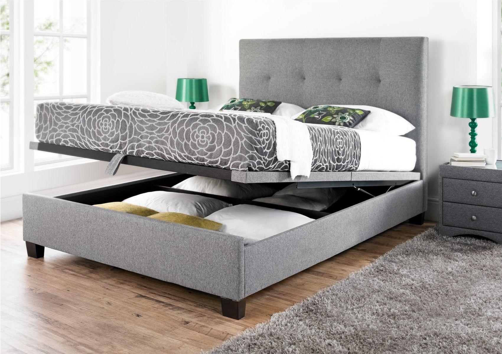 Kaydian Walkworth Ottoman Storage BedSmoke FabricOttoman