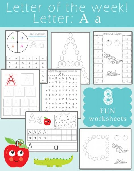 Letter of the Week - Letter A | Worksheets