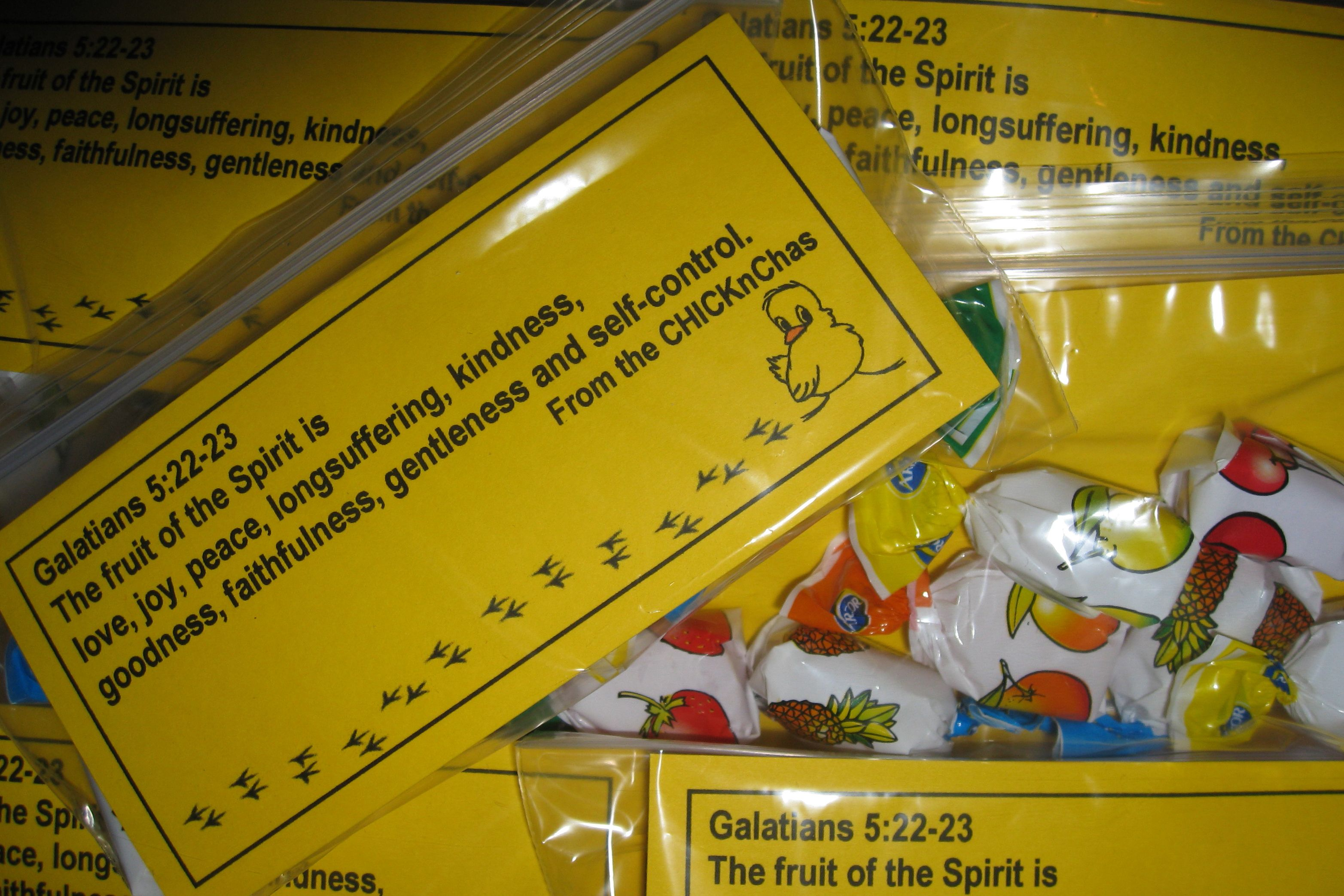 Palanca Galatians 5 22 23 Fruit Of The Spirit Fruit Candy In Baggie With Scripture Card