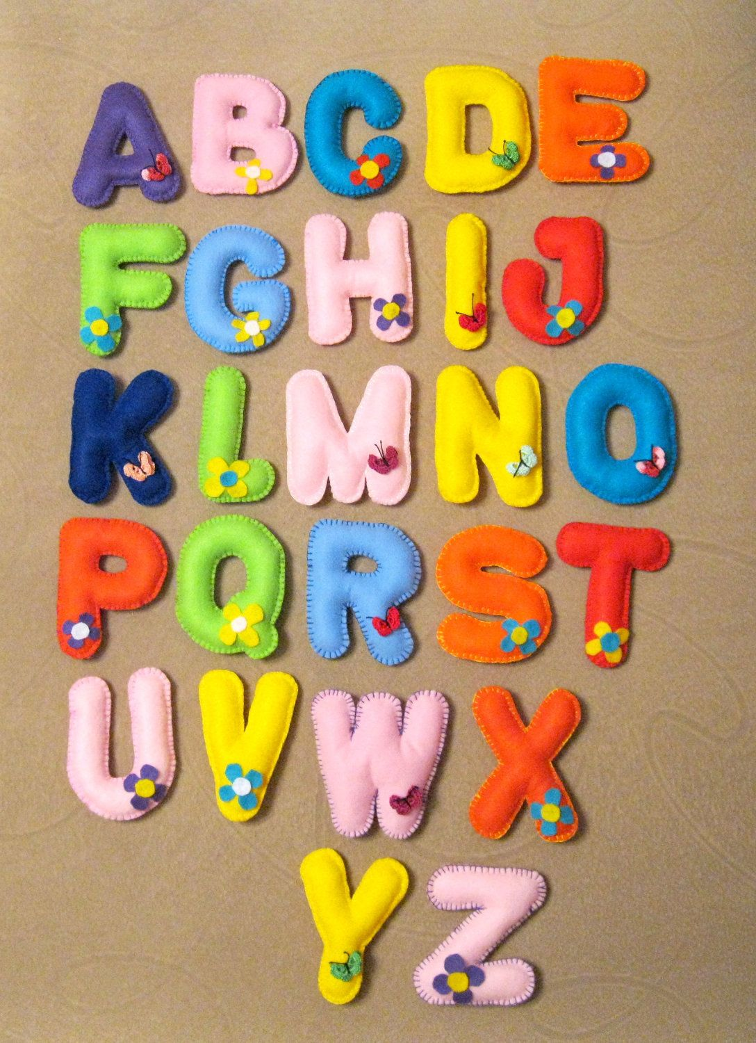 Felt Magnet Alphabet With Corresponding Shapes Appropriate Items
