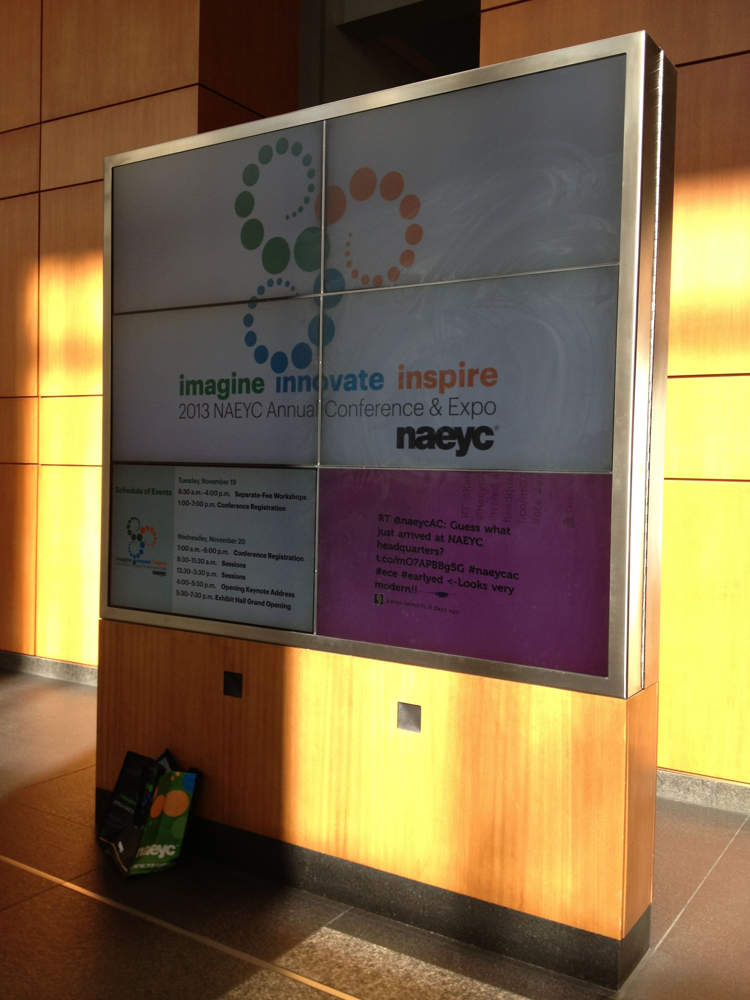 """This year's NAEYC Conference theme """"Imagine. Innovate"""