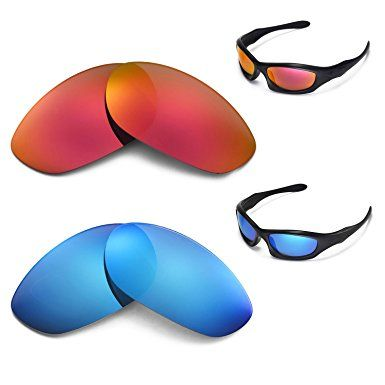 ed9ef0ff14 New Walleva Polarized Ice Blue + Fire Red Lenses for Oakley Monster Dog  Review
