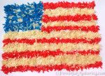 4 July Kids Craft Ideas - Color Rice American Flag and Fireworks! #patriotsdaycraftsforkids
