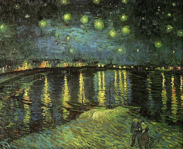 Van Gogh, Vincent (1853-1890) - 1888 Starry Night Over the Rhone by RasMarley, via Flickr