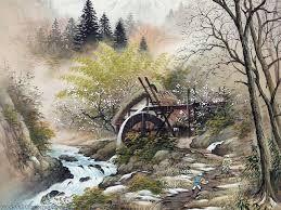 Resultado de imagen para japanese painting landscape