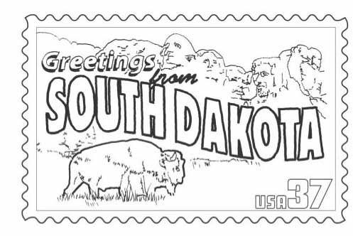 North Dakota Coloring Page