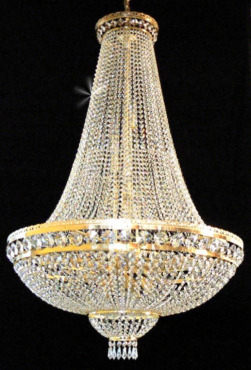 Basket style empire chandelier the crystal chandelier company uk edinburghs luxury lighting boutique