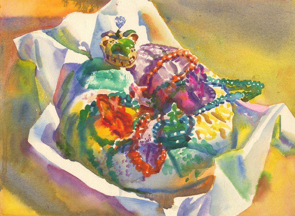 King cake from wyatt waters gallery art cool art art