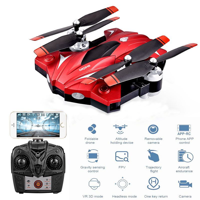 2018 Newest Style Rc Toys Hobbie Long Flight Time 23 Minutes S13 Rc Drone Aerial 1080p High Definition Folding Four Axis Quadcopter Aircraft Led Navigation Li Led Navigation Lights Navigation