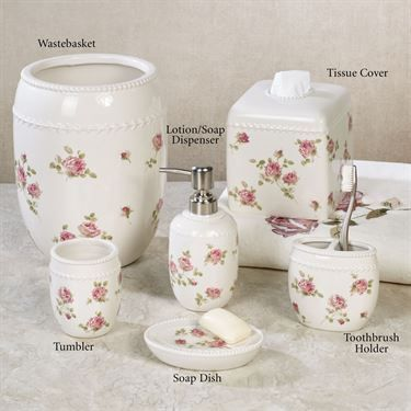 Rosalie Floral Bath Accessories By Piper Floral Bathroom Floral Bath Bath Accessories