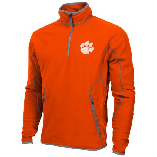 Antigua Clemson Tigers Orange Ice Quarter-Zip Fleece Jacket ...