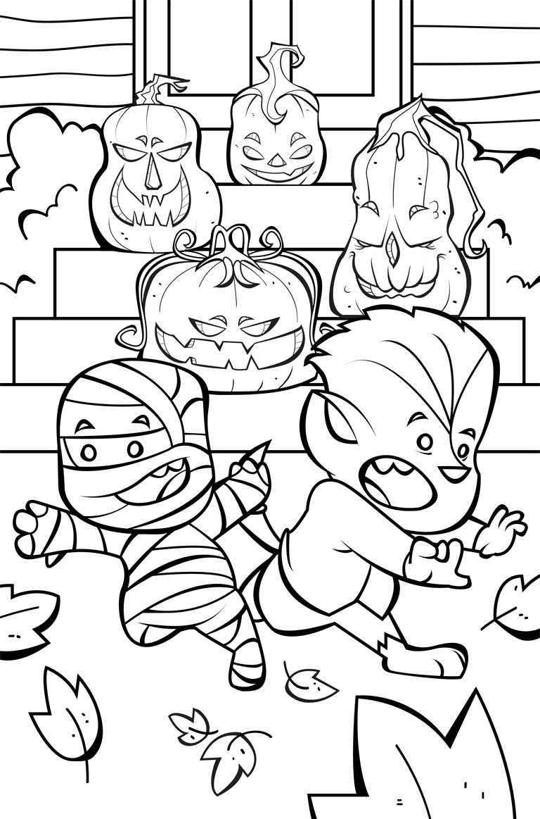 Halloween Coloring Pages From Farfaria Free Halloween Coloring Pages Halloween Coloring Pages Monster Coloring Pages