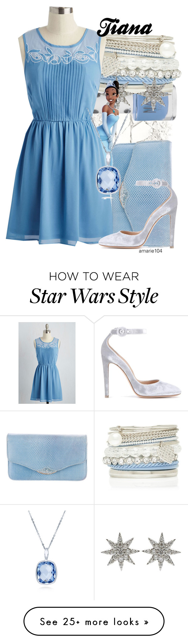 """""""Tiana + The Princess Tag"""" by amarie104 on Polyvore featuring Urban Decay, Topshop, Forever New, Bee Goddess, Judith Leiber, Gianvito Rossi and BERRICLE"""