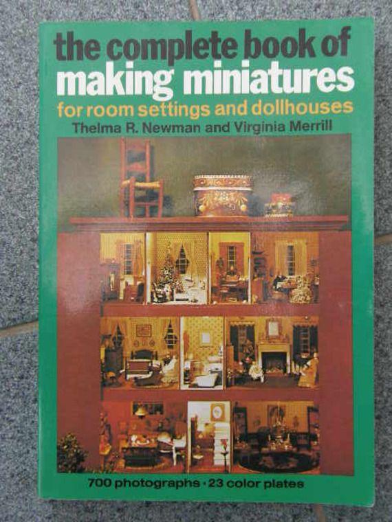 Livre Pour Fabriquer Des Miniatures Pour Maisons De