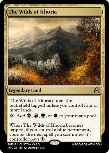 4 color EDH Land Cycle. Attempt 1.