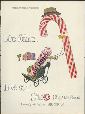 Like Father Love Son Life Savers Stikopep Candy Ad 1951 | eBay