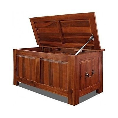 Wooden Storage Trunk Pirate Treasure Box Lid Large Bedroom Unit Chest Bench Seat 86 Wood Storage Box Wooden Storage Storage Trunk