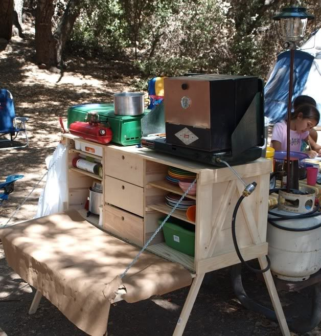 Camp kitchen nice easy camp chuck box design www for Outdoor camping kitchen ideas