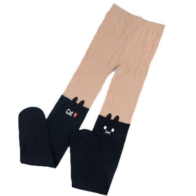 f436ed66d Baby Girl s Stockings Fashion Tight Solid Cute Cartoon Kitten Children Girls  Kids Stockings 4 Designs
