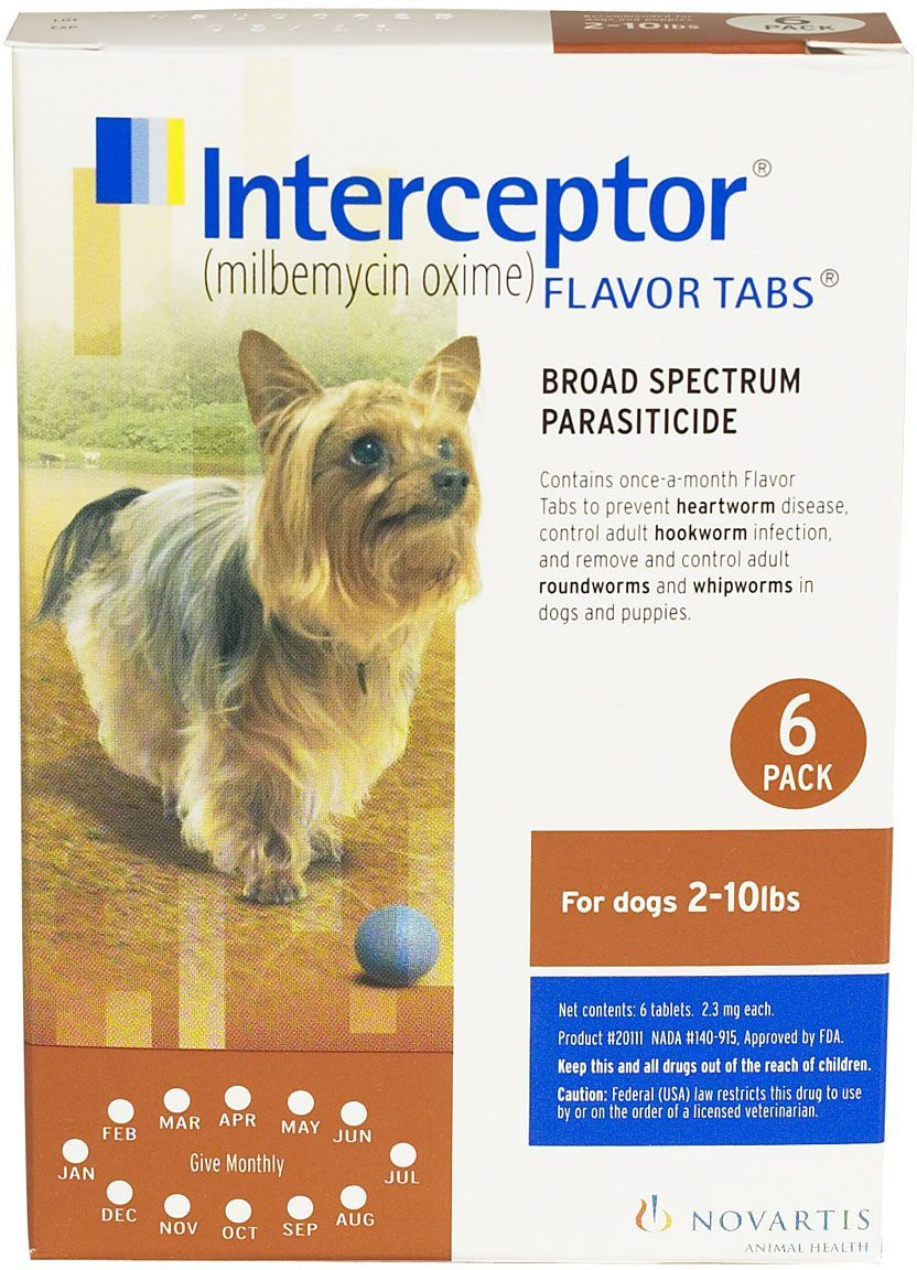 Interceptor Heartworm Prevention Flavor Tabs for Dogs and