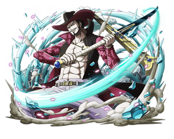 dracule mihawk aka taka no me by bodskih luffy gear 4 anime deviantart