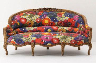 Amelie Sofa, Blazing Poppies - Anthropologie.com ...