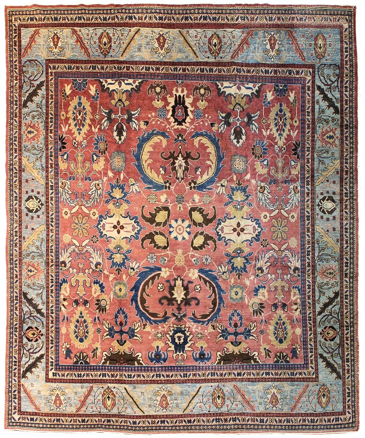 Formal Rugs Gallery Sultanabad Design Rug Hand Knotted In Turkey Size 10 Feet 7 Inch Es X 12 Feet 4 Inch Es