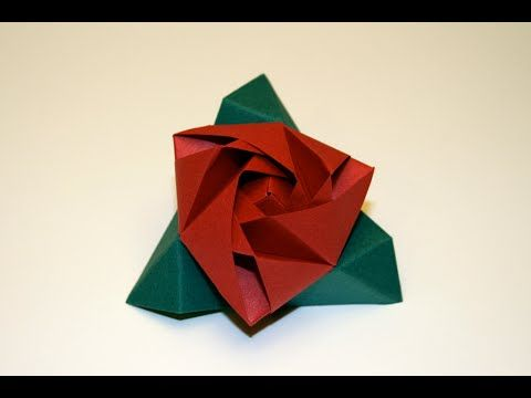 origami rose facile youtube. Black Bedroom Furniture Sets. Home Design Ideas