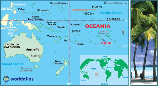 Tahiti Map / Geography of Tahiti/ Map of Tahiti - Worldatlas ...