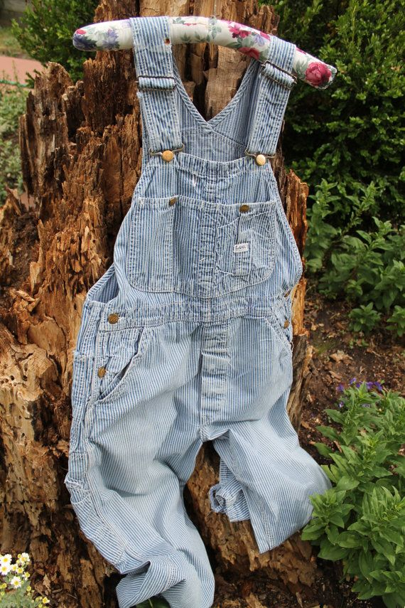 Vintage Pinup Rockabilly Overalls Made in USA 1970s LEE Hickory Stripe Denim Bib Overalls Womens Size 9