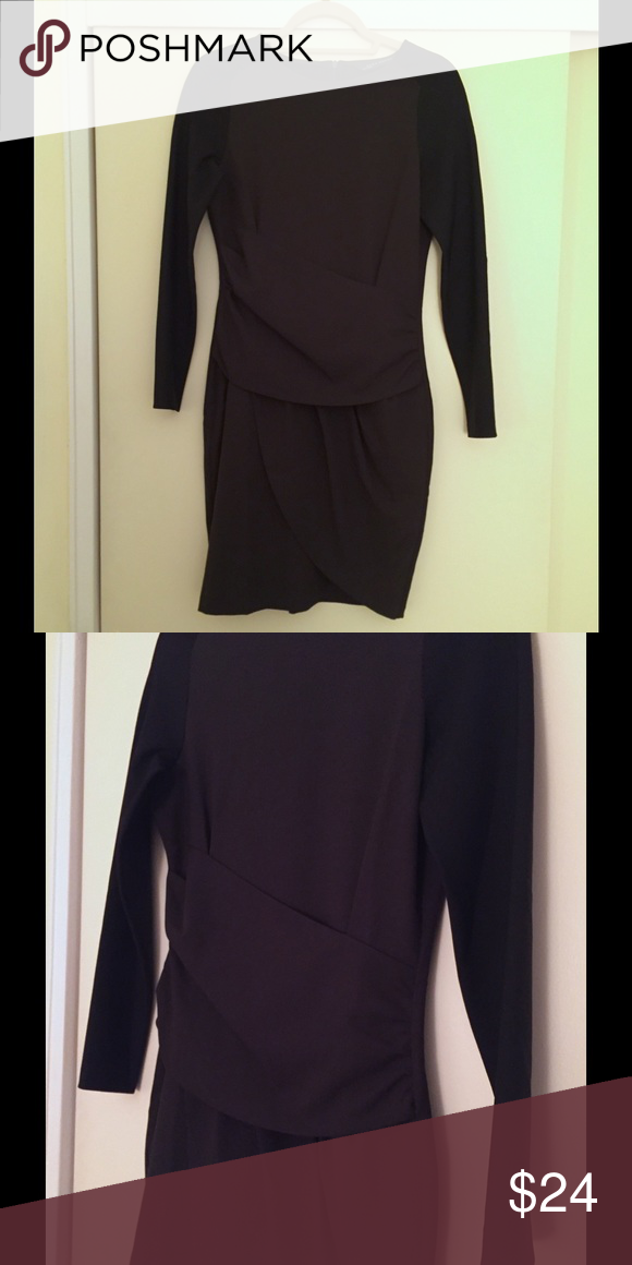 9e295af0 Zara 2-tone dress Zara Two Tone Long Sleeve Dress Size S Dark green dress  with black long sleeves Machine wash Fitted dress GREAT for hiding a belly.