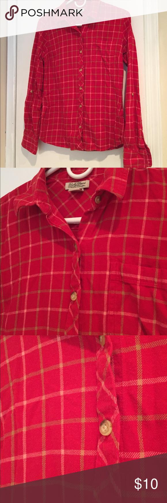Flannel shirt knot  Lucky  Brand Flannel shirt   Final Cut   lucky