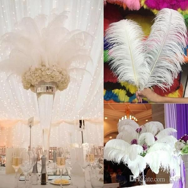 Nature large ostrich feathers 12 14inch30 35cm for home wedding nature large ostrich feathers 12 14inch30 35cm for home wedding table decoration party festival supplies wholesale junglespirit Choice Image