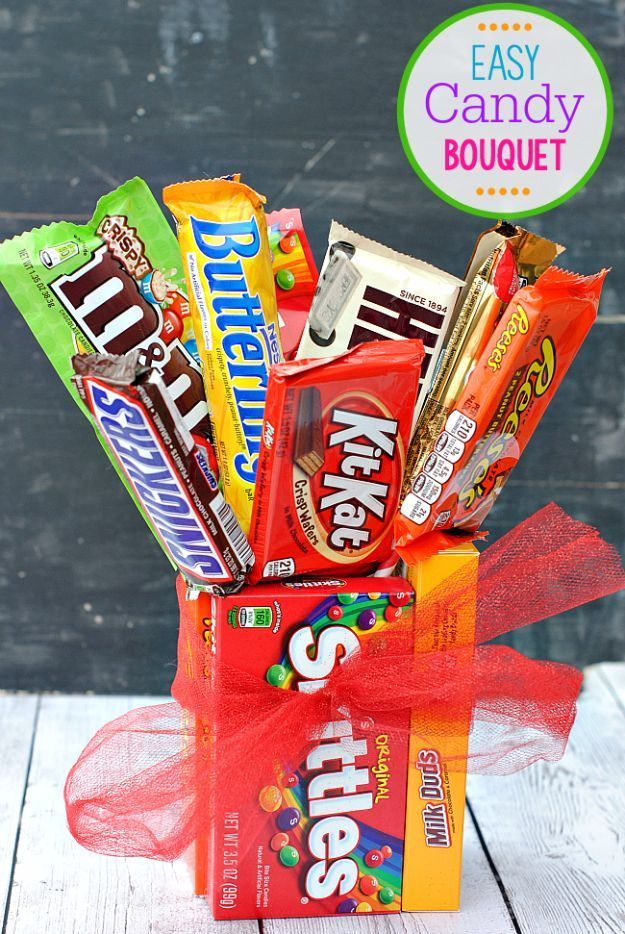 Diy valentines day gifts for her easy candy bar bouquet cool and diy valentines day gifts for her easy candy bar bouquet cool and easy things to make for your wife girlfriend fiance creative and cheap do solutioingenieria Gallery