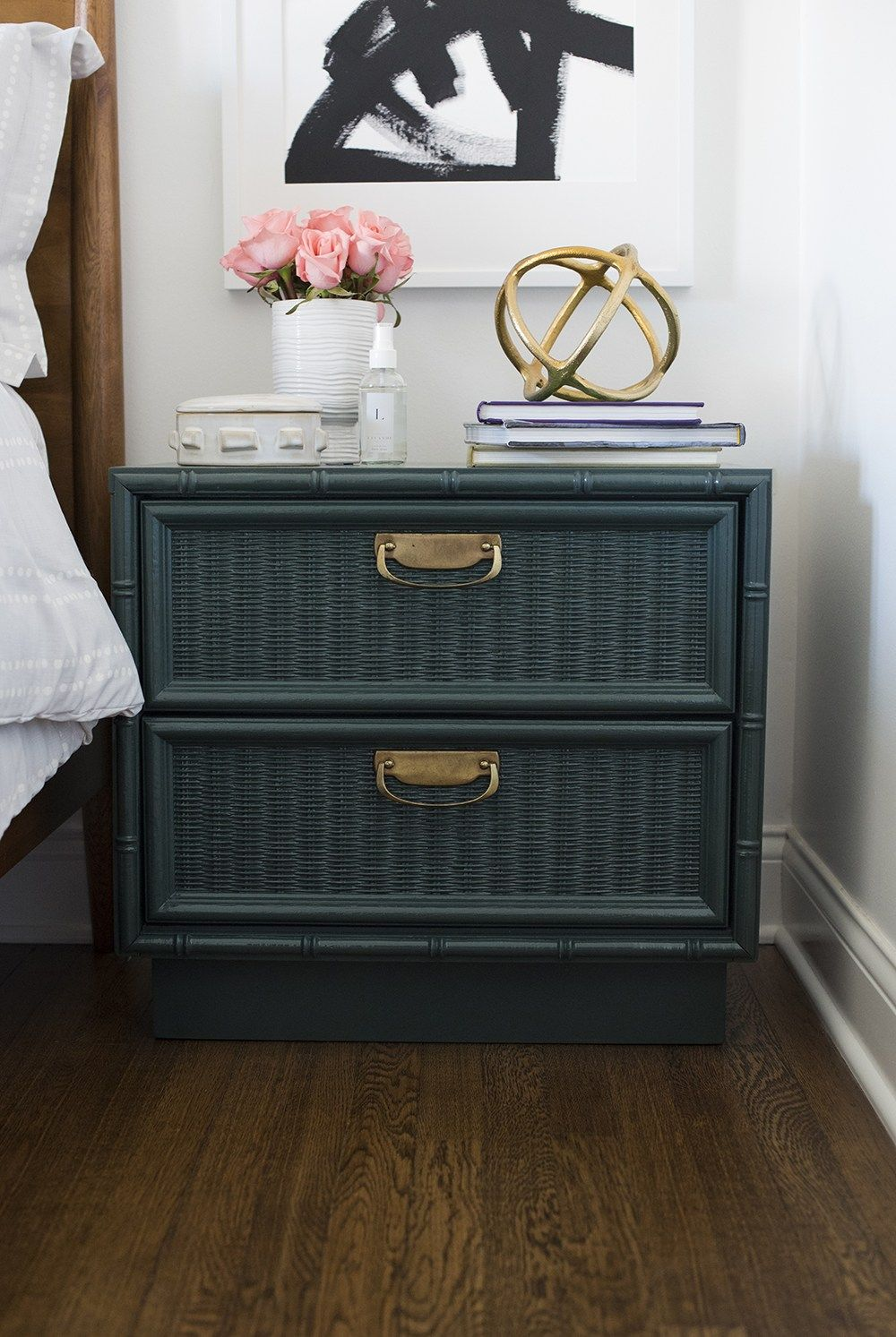 6 Ways To Style Your Nightstand Wicker Bedroom Furniture Painting Wicker Furniture Indoor Wicker Furniture