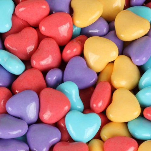 Sweet Love Wedding -- Cake -- Assorted Pastel Heart Candy 1 Pound Bag