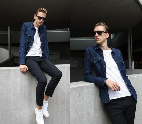 Oliver Lips Lee Denim Shirt, Adidas Stan Smith Mid
