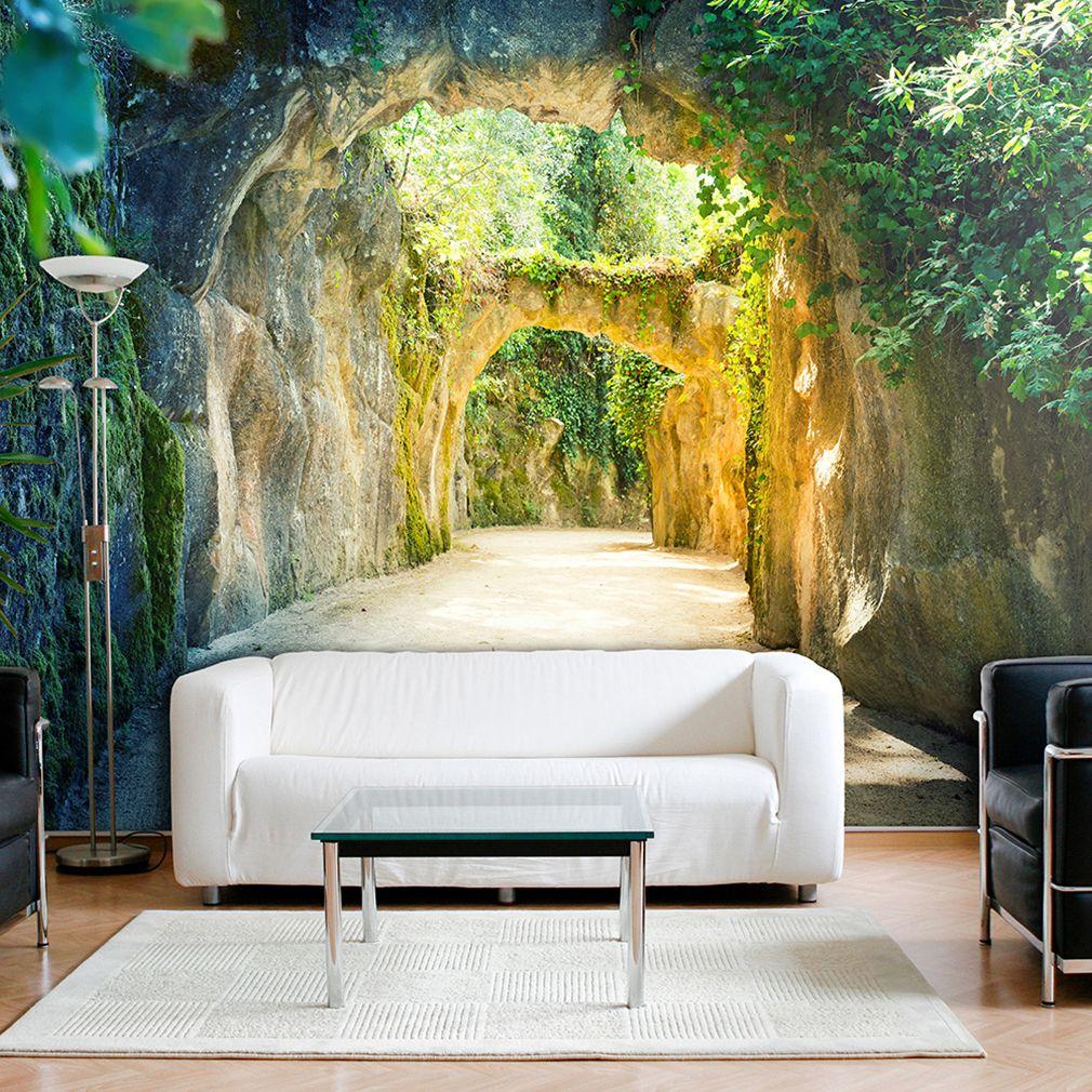 Vlies Fototapete 3d Tunnel Grun Natur Landschaft Tapete Stein Wandbilder Xxl 065 Ebay Wandbilder Schlafzimmer Landschafts Tapete Fototapete 3d