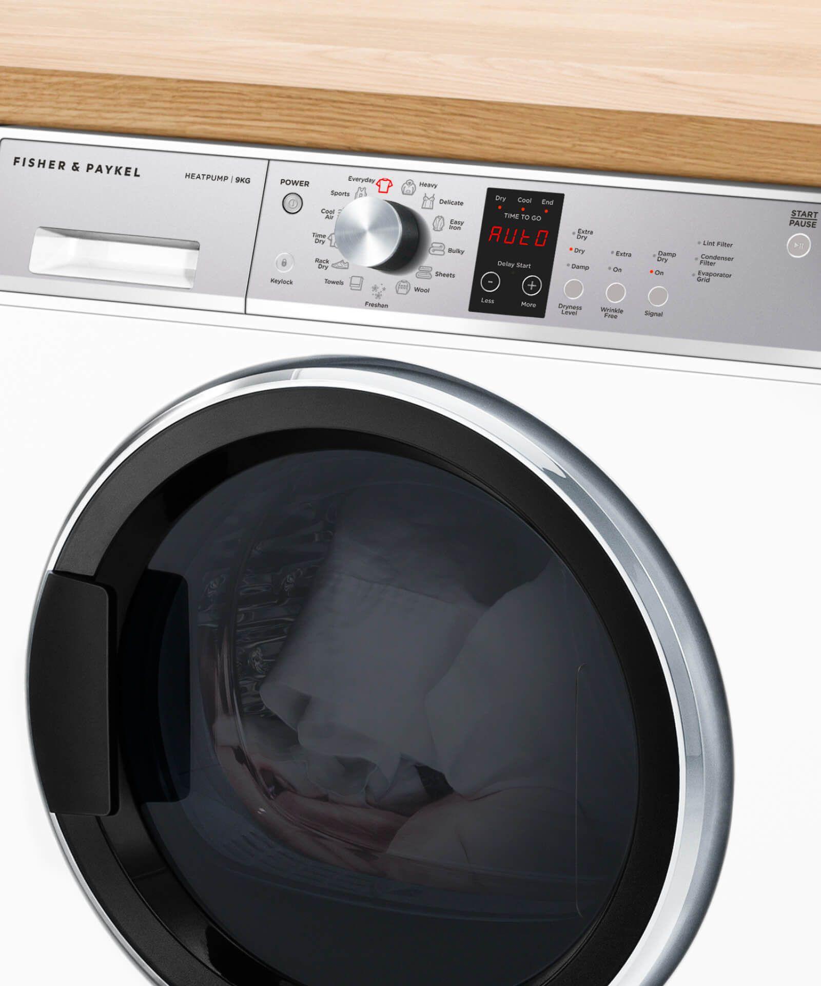 Dh9060p1 Heatpump Condensing Dryer 9kg Fisher Paykel Au Heat Pump Stainless Steel Drum Drying Towels