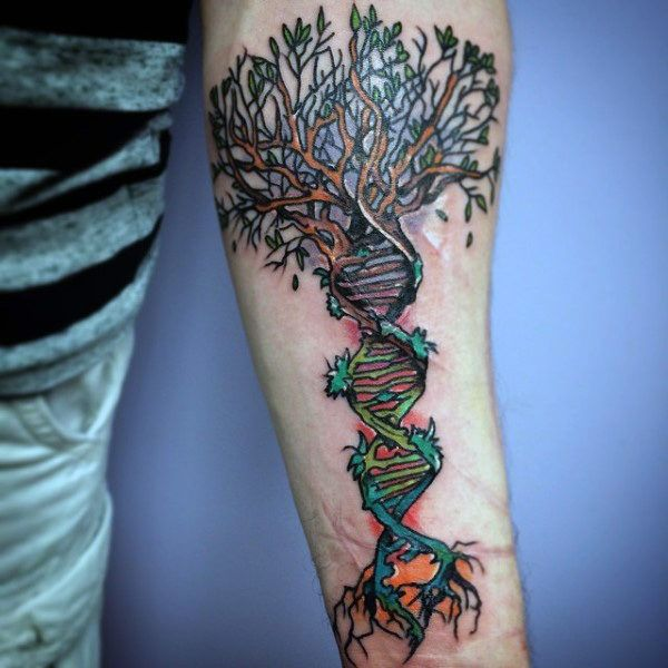 Dna Tattoos Designs Ideas And Meaning: 60 DNA Tattoo Designs For Men