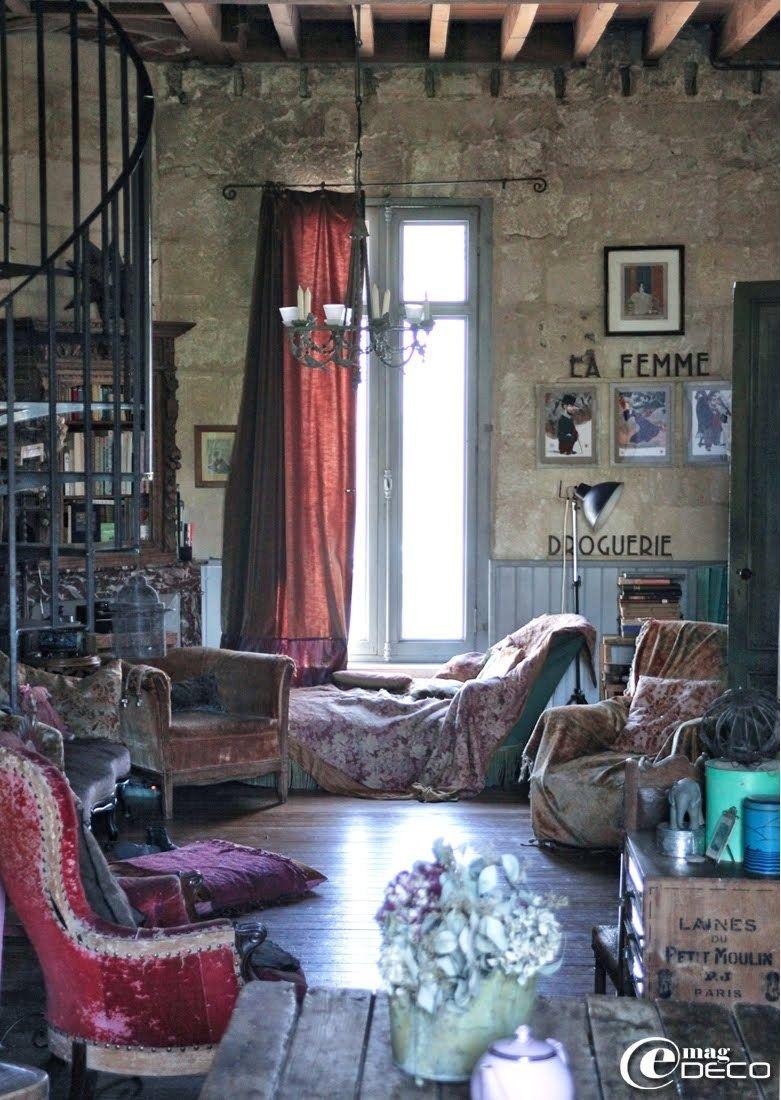 Rustic, Romantic Bohemian Style.
