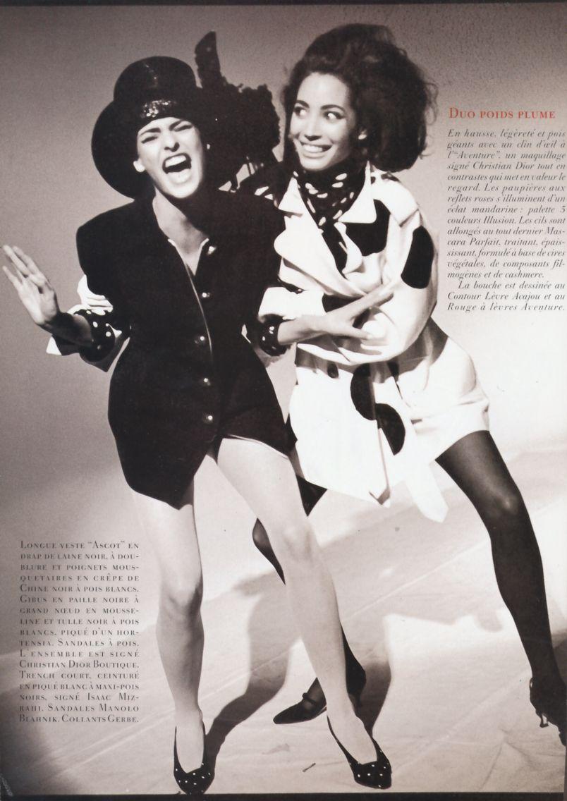 Christy Turlington Linda Evangelista For Vogue Paris February 1990 By Arthur Elgort Supermodels Linda Evangelista Christy Turlington