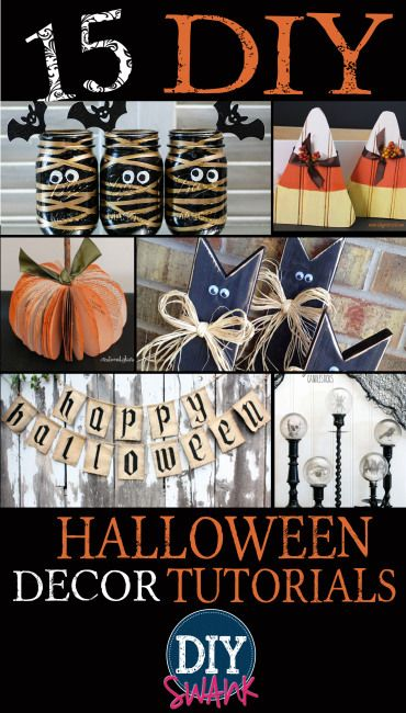 DIY Halloween Decorations DIY Halloween, Tutorials and Holidays - halloween crafts decorations