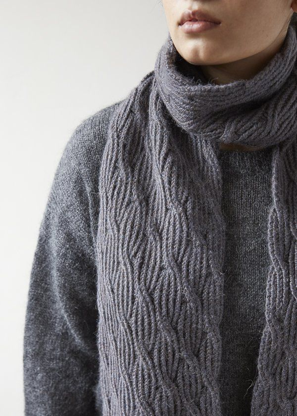 Reversible Rivulet Scarf in Trout Brown | Mitja / Media / Knitting ...