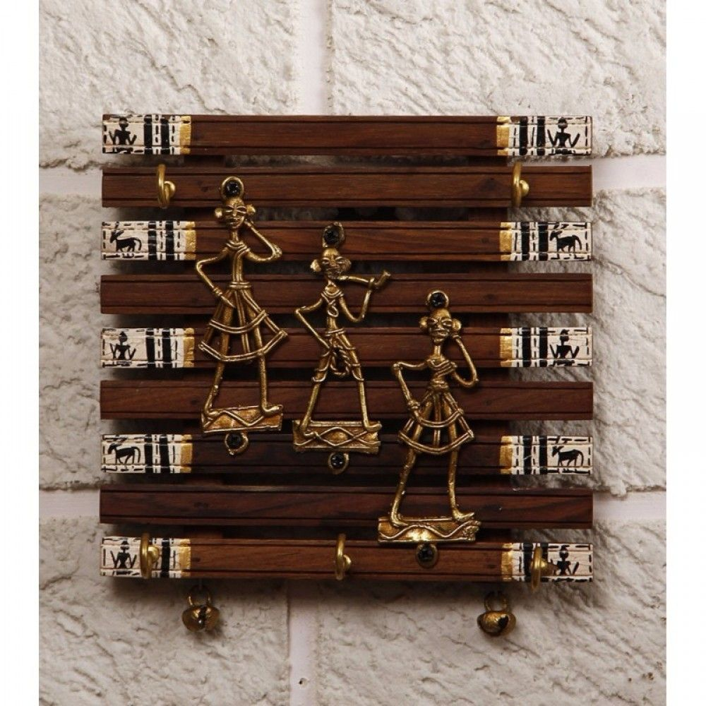 7593d8a316 Buy Unravel India Dhokra Craft & Warli painted fusion Key Holder Online