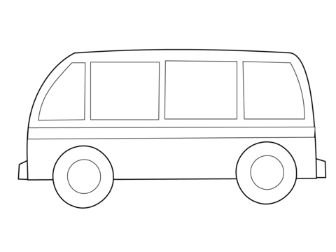 Simple Bus Coloring Page Coloring Pages Design Your Own Car Bus Cartoon