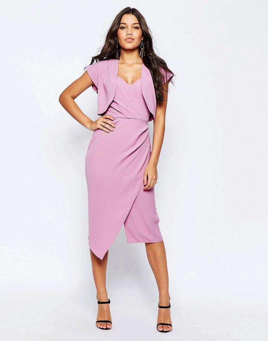 ASOS+Soft+Bandeau+Midi+Pencil+Dress+With+Crop+Jacket | MATTI ...