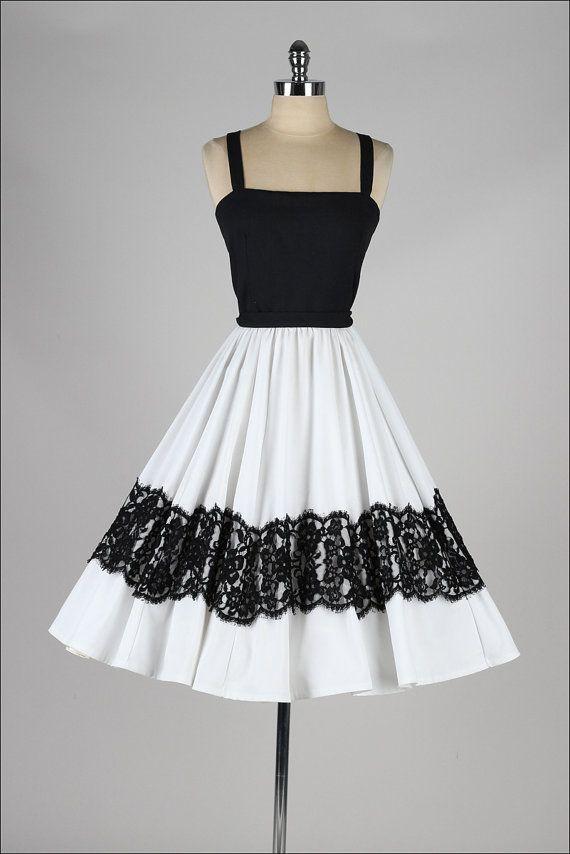1960 S Black And White Dress Vintage Dresses 1960s Dresses 1960 S Dress